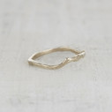 contoured wedding ring for her