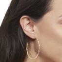 Pave diamond hoop earrings  by Olivia Ewing Jewelry
