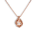 Naples Teardrop Necklace with Pink Morganite Gemstone by Olivia Ewing Jewelry