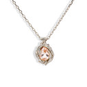 14K white gold necklace with teardrop morganite by Olivia Ewing Jewelry