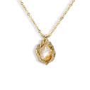 Naples Rutilated Quartz Teardrop Necklace by Olivia Ewing Jewelry
