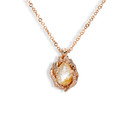 14K rose gold pear shaped quartz necklace by Olivia Ewing Jewelry