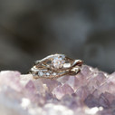 unique solitaire engagement ring for her