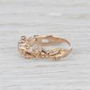 antique diamond twig engagement ring