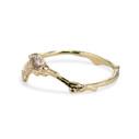 Wedding ring with diamond by Olivia Ewing Jewelry