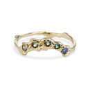 Naples Montana Sapphire Crown Ring by Olivia Ewing Jewelry