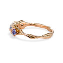 Montana sapphire rose gold ring by Olivia Ewing Jewelry