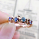 Purple Montana sapphire engagement ring by Olivia Ewing Jewelry
