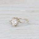 large moissanite engagement ring for her