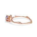 Yogo purple Montana Sapphire engagement ring by Olivia Ewing Jewelry