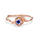 Petite Naples Purple Montana Sapphire Solitaire ring by Olivia Ewing Jewelry