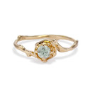 Petite Naples Light Green Montana Sapphire Solitaire ring by Olivia Ewing Jewelry