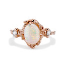 Naples Opal Trio Ring by Olivia Ewing Jewelry