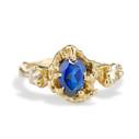 Naples Sapphire Trio Stone Ring by Olivia Ewing Jewelry