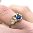 Pear shaped sapphire engagement ring by Olivia Ewing Jewelry