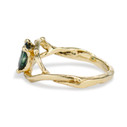 green Montana sapphire engagement ring  by Olivia Ewing Jewelry