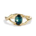 Unity Oval Montana Sapphire Solitaire Ring by Olivia Ewing Jewelry