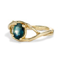 oval sapphire engagement ring by Olivia Ewing Jewelry