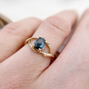 Green Montana sapphire ring  by Olivia Ewing Jewelry