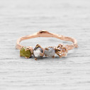Garland Rough Diamond Four Stone Ring by Olivia Ewing Jewelry