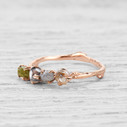 Handmade nature engagement rings by Olivia Ewing Jewelry