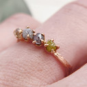 Natural rough diamond ring by Olivia Ewing Jewelry