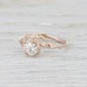 Twig moissanite engagement ring