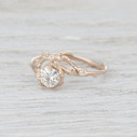 Twig moissanite engagement ring