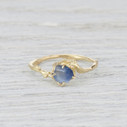 Montana Sapphire engagement ring and nature inspired engagement rings by Olivia Ewing Jewelry