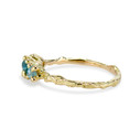 18K Yellow Gold Raw stone engagement ring by Olivia Ewing Jewelry
