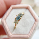 14K Yellow Gold Nature engagement ring by Olivia Ewing Jewelry