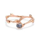 Verona Rough Montana Sapphire Bezel Ring by Olivia Ewing Jewelry