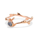 Rough sapphire twig ring by Olivia Ewing Jewelry