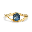 Large Unity Montana Sapphire Solitaire Ring by Olivia Ewing Jewelry