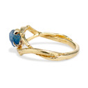 Rough cut sapphire engagement ring by Olivia Ewing Jewelry