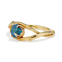 Natural Montana Sapphire engagement ring by Olivia Ewing Jewelry