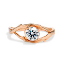 Extra Large Unity Moissanite Solitaire Ring by Olivia Ewing Jewelry