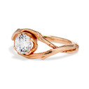 Forever One Moissanite engagement ring by Olivia Ewing Jewelry