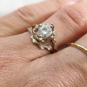 Contour wedding band by Olivia Ewing Jewelry