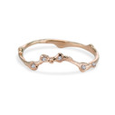 14K rose gold budded twig wedding ring by Olivia Ewing Jewelry