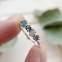 Montana sapphire tree themed engagement ring by Olivia Ewing Jewelry