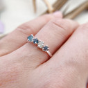 Natural raw uncut Montana sapphire engagement ring by Olivia Ewing Jewelry