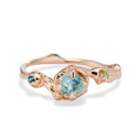 14K rose gold sapphire nature-inspired engagement ring by Olivia Ewing Jewelry