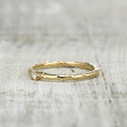 thin wedding band for her