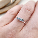 Twig engagement ring in silver by Olivia Ewing Jewelry