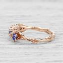 montana sapphire rose gold ring