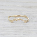 curved twig wedding band