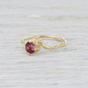 ruby solitaire engagement ring