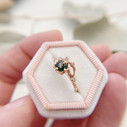 Green sapphire rose gold ring by Olivia Ewing Jewelry