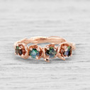 Union Green Montana Sapphire Four Stone Ring by Olivia Ewing Jewelry
